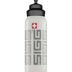 Gourde Wide mouth bottle siggnature White 1.0 l SIGG