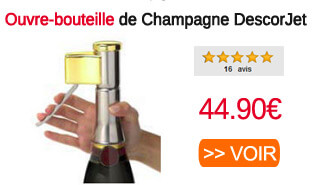 Ouvre bouteille champagne