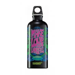 Gourde Make love not Landfill 0.6l black