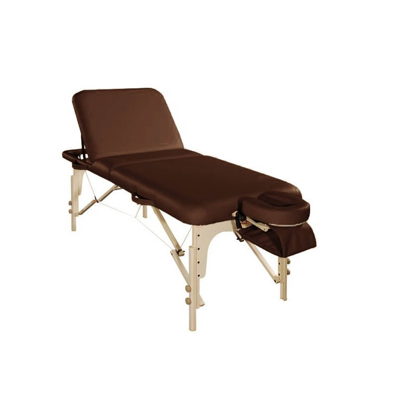 Table esth tique pliante relax table massage marron - Table esthetique pliante legere ...
