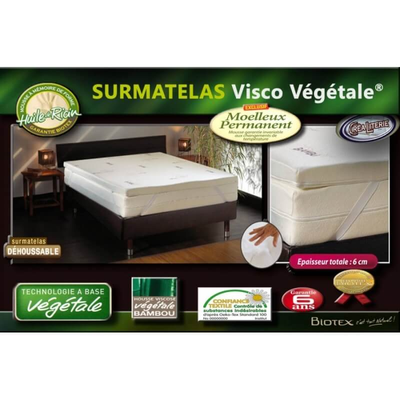 surmatelas memoire de forme mousse viscov g tale naturelle. Black Bedroom Furniture Sets. Home Design Ideas