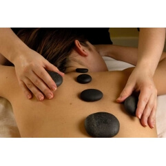22 pierres de massage en basalte