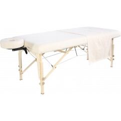 Ensemble drap en flanelle pour table de massage