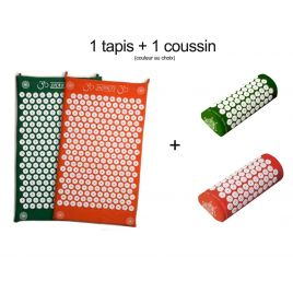 Pack tapis + coussin d'acupression