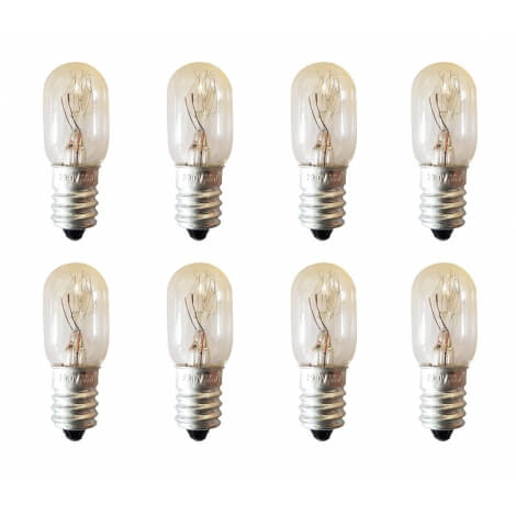 lot de 8 ampoules 15w pour lampe de sel. Black Bedroom Furniture Sets. Home Design Ideas