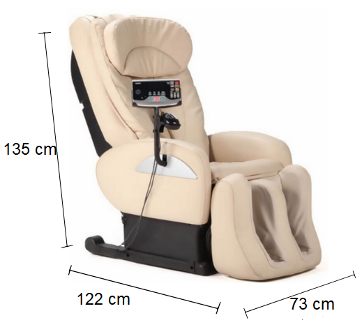 Dimension Fauteuil Inada W1 de massage