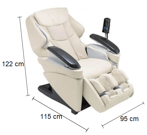 Dimension Fauteuil de massage Panasonic MA70
