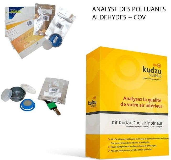 Kit analyse qualité de l'air Kudzu